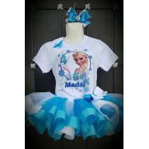 Envío Gratis Tutu Elsa, Frozen Con Listón. Fiesta Cumpleaños