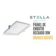 Painel Led Embutir Stella 18w Deep Recuado 3000k Sth8903br30