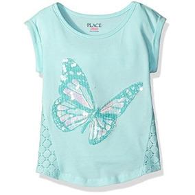 Camiseta Infantil Menina Verde Agua Borboleta 5 Anos