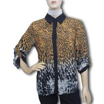 Camisa De Musseline Estampa Bicho - Usada - Ótimo Estado