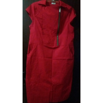 Vestido Algodão Vermelho G2 By Cristian
