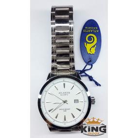 Relógio Original Masculino Atlantis Prata Ref G6404