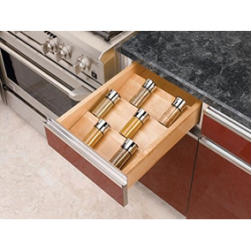 Rev-a-shelf-madera Spice Cajón Insertar Pequeño Natural 1