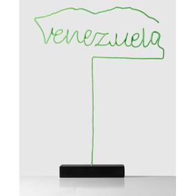 Escultura venezuela + Ávila En Color Verde