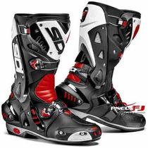 Bota Racing Sidi Vortice - Preta/vermelha/branca