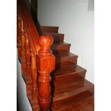 Escalera De Madera En Caoba, Algarrobo -somos Fabricantes