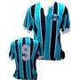 Camisa Vintage Retrô Grêmio 1980 Blusa Tricolor Camiseta