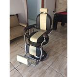 Cadeira De Barbeiro Ferrante Redonda Restaurada Frete Gratis
