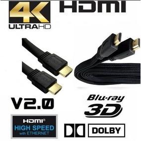 Cabo Hdmi 5 Metros Blindado Ultra Hd 4k 3d Banhado À Ouro