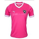 Camisa Do Botafogo Feminina Rosa (personalizada)