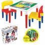 Mesa Didática Infantil Escolar Com 2 Cadeiras Bell Toy 9068