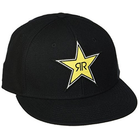 Factory Effex (18-86602) Rockstar Star Snap-back Hat (negro) 27a9725b0d9