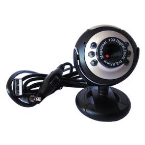 Webcam 20mp Led Noturno Microfone Alta Definição Skype Clipe