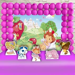 Kit Ouro Decoração Festa Infantil Moranguinho Baby Promoção