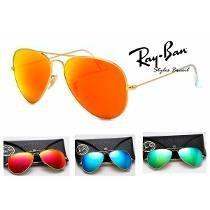 Óculos Atacado Kit 5 Peças Ray Ban Aviador 4 Cores Rb3026