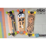 Longboard Gravital Maple Canadiense Y Banbu Abec 11 Original