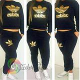 Conjunto Pantalón Y Buzó adidas Logo Grande - Sudadera Mujer