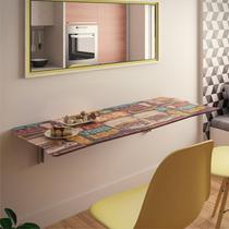 Mesa Dobrável Suspensa Para Cozinha Em Mdf 130 Cm Bar