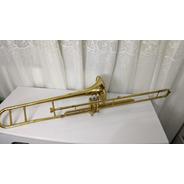 Trombone Eagle Sib Pistos Tv 602 Longo Dourado Completo