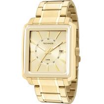 Relógio Technos Masc Dourado Quadrado 2315yt/4x Wr 5atm