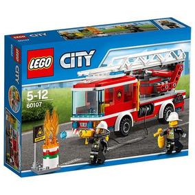 Camión De Bomberos Con Escalera Lego 60107