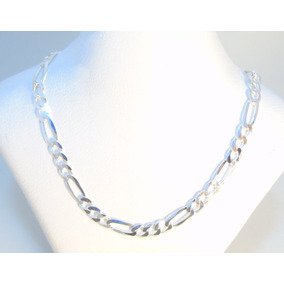 9488c04f0382 Cadena Plata 925 Figaro Diamantada 60cm 5mm 12gr