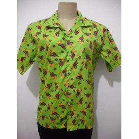 Blusa Camisa Verde Spider Man Homem Aranha Tam 18
