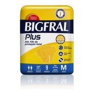 Fralda Bigfral Plus Normal Tamanho M 9 Unidades