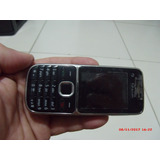 Celular Nokia C2-01 Preto Câm 3.2mp,3g, Fm Bom Estado