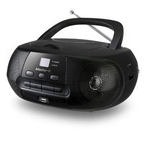 Radio Boombox Negra Fm Bluetooth Cd Mp3 Usb Master G