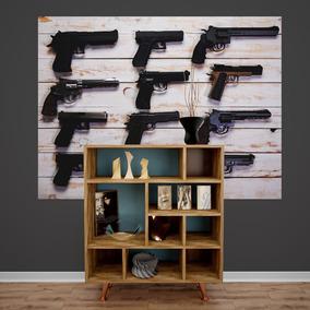 Adesivo De Parede Armas Pistolas Painel Armado Decoraçao
