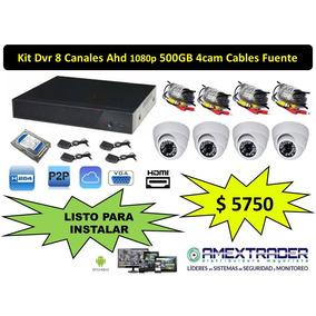 Kit Seguridad Dvr 8ch + Disco 500gb+ 4 Camaras Ir Ccd+fuente