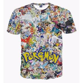 Playera Pokemon Pikachu Charmander Bolbasor Eve Impresion 3d