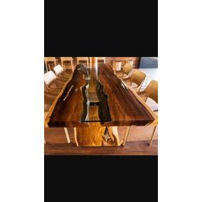 Mesa Rústica De Madeira Maciça Exclusiva Com Vidro
