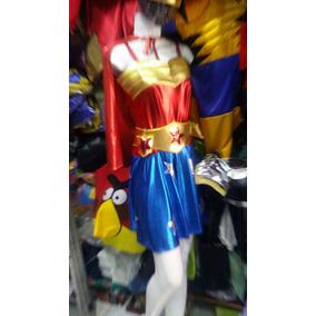 Disfraz Adulto Superheroes Hombre,mujer Maravilla Batman, ,