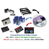 Conversión De Vhs Vhs C Hi8 Video 8 Dv Mini Dv A Dvd
