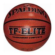 Pelota Basquet Spalding Nº7 Cuero Elite Tournament Ex Tf-750
