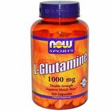 L-glutamina 1000 Mg 120 Caps Now Sports - Importado+brinde