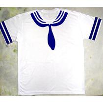 Camiseta Marinheiro Cor Azul Fantasia Criativa Engraçada
