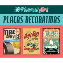 Placas 40x27 Vintage Retrô Frases Bar Frete Gratis