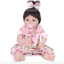 Bebê Baby Reborn Todo Silicone 55cm Barato Boneca Real