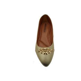 147123a0e6 Sandalia De Festa Dzum Dourada Feminino Sapatilhas - Calçados ...