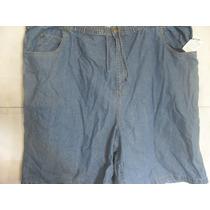 Bermuda Jeans Elastico King Size Usa 6xl Brasil 68 76cmx68cm