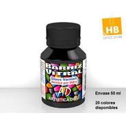 Barniz Laca Vitral Ad Para Vidrio Set Completo X18 Colores