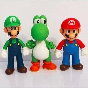 Boneco Mario Articulado Bros Luigi Yoshi Preço Por Unidade