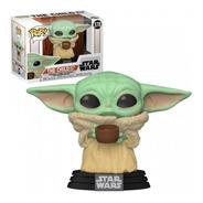 Pop! Funko Baby Yoda Com Copo   Star Wars Mandalorian - #378