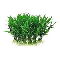 10 Plantas Piezas De Plástico Verde Bajo El Agua Del Acuari