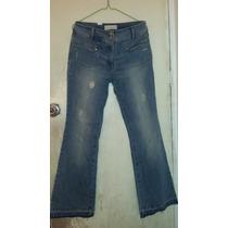 Bello Pantalon Blue Jean Bota Ancha, Para Dama