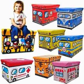 Bau Para Guardar Brinquedos Puff Infantil Caixa Organizadora