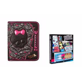 Fichário Monster High Original + Livro Acessório De Brinde